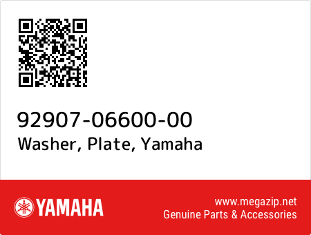 Washer, Plate, Yamaha 92907-06600-00 oem parts