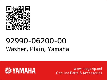 Washer, Plain, Yamaha 92990-06200-00 oem parts
