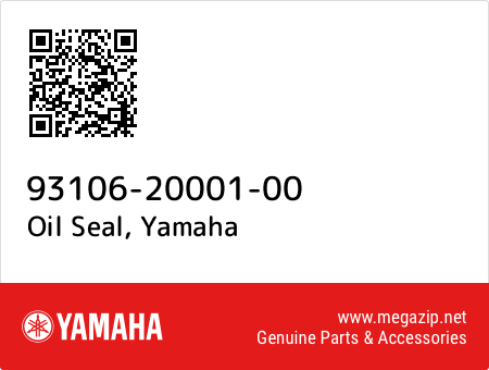 Oil Seal, Yamaha 93106-20001-00 oem parts
