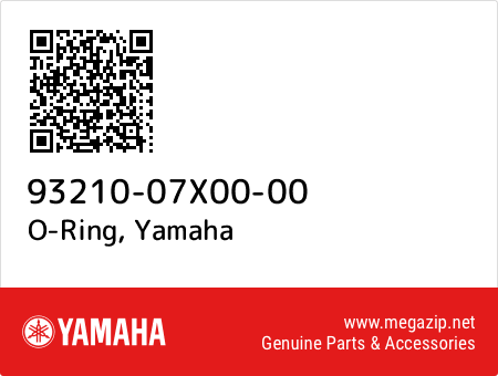 O-Ring, Yamaha 93210-07X00-00 oem parts