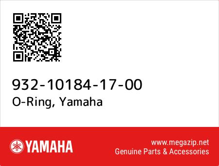 O-Ring, Yamaha 932-10184-17-00 oem parts