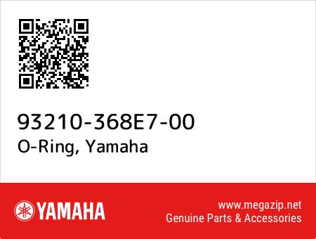 O-Ring, Yamaha 93210-368E7-00 oem parts