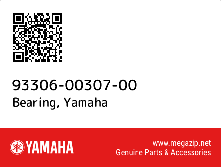 Bearing, Yamaha 93306-00307-00 oem parts
