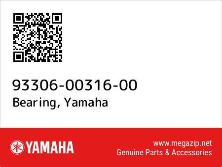 Bearing, Yamaha 93306-00316-00 oem parts