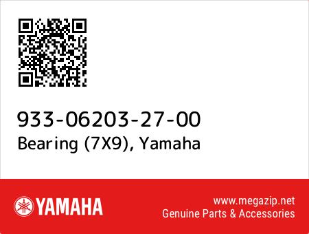 Bearing (7X9), Yamaha 933-06203-27-00 oem parts
