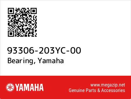 Bearing, Yamaha 93306-203YC-00 oem parts