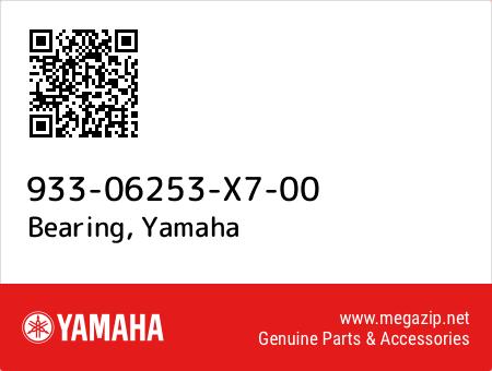 Bearing, Yamaha 933-06253-X7-00 oem parts