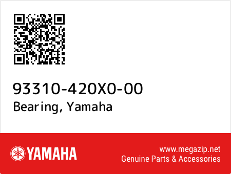 Bearing, Yamaha 93310-420X0-00 oem parts