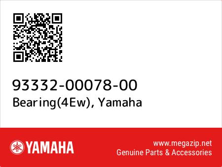 Bearing(4Ew), Yamaha 93332-00078-00 oem parts