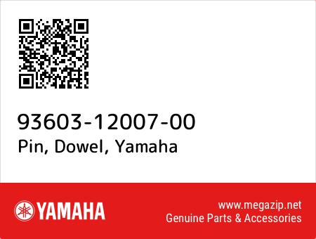 Pin, Dowel, Yamaha 93603-12007-00 oem parts