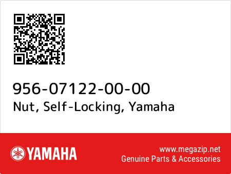 Nut, Self-Locking, Yamaha 956-07122-00-00 oem parts