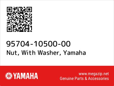 Nut, With Washer, Yamaha 95704-10500-00 oem parts