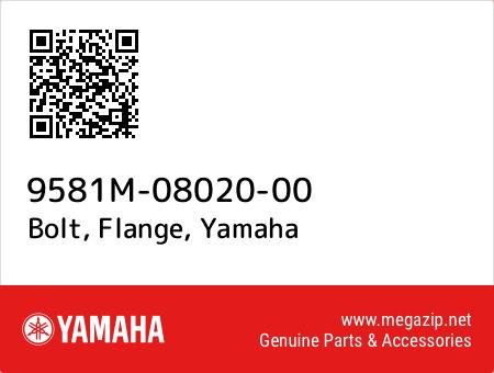 Bolt, Flange, Yamaha 9581M-08020-00 oem parts