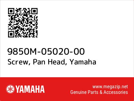 Screw, Pan Head, Yamaha 9850M-05020-00 oem parts