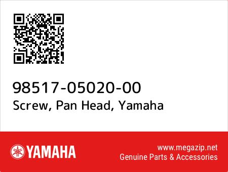 Screw, Pan Head, Yamaha 98517-05020-00 oem parts