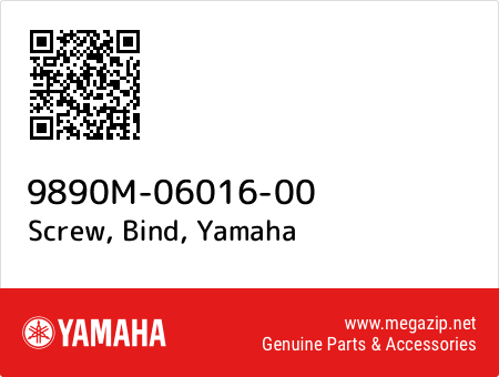 Screw, Bind, Yamaha 9890M-06016-00 oem parts