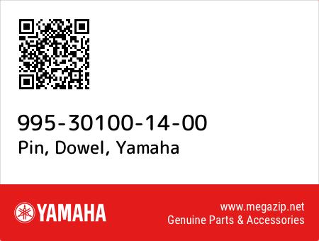 Pin, Dowel, Yamaha 995-30100-14-00 oem parts