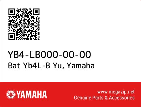 Bat Yb4L-B Yu, Yamaha YB4-LB000-00-00 oem parts