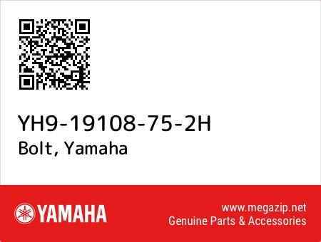 Bolt, Yamaha YH9-19108-75-2H oem parts