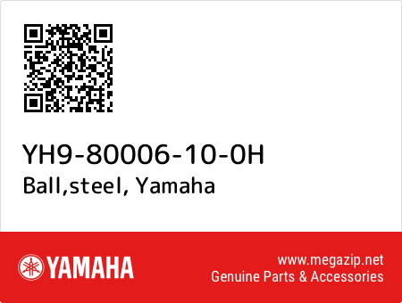 Ball,steel, Yamaha YH9-80006-10-0H oem parts