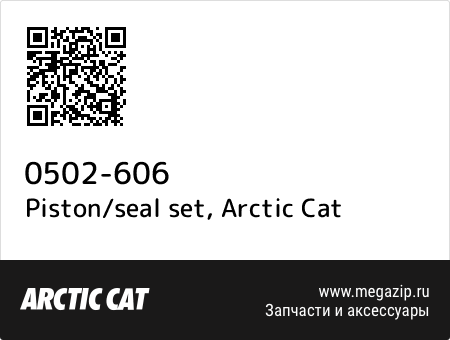 Piston/seal set, Arctic Cat 0502-606 запчасти oem