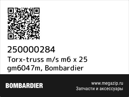 Torx-truss m/s m6 x 25 gm6047m, Bombardier 250000284 запчасти oem