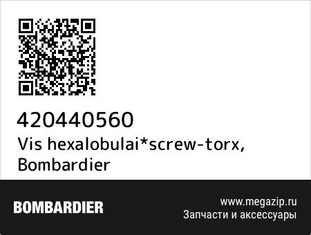 Vis hexalobulai*screw-torx, Bombardier 420440560 запчасти oem